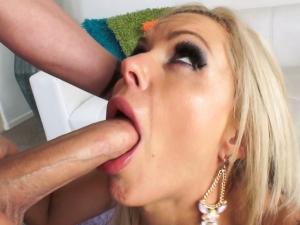 Busty Babe's Deep-Throating Boob Fuck
