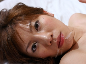 Busty Aki Yatou gets cum in mouth after sex