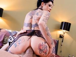 Tattooed MILF Megan's Gaping Anal Fuck